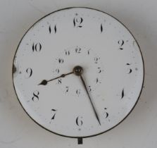 An early 19th century pocket watch movement, the gilt fusee movement with duplex escapement with