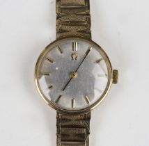 An Omega 9ct gold lady's bracelet wristwatch, the signed movement numbered '22441009', the signed
