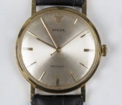 A Rolex Precision 18ct gold circular cased gentleman's wristwatch, circa 1950s, the signed
