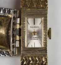 A Balogh's gold and diamond lady's bracelet wristwatch, the movement signed 'Ebel Watch Co', the