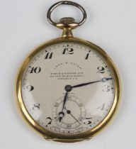 A Zenith 18ct gold cased keyless wind open-faced gentleman's dress pocket watch, the signed and