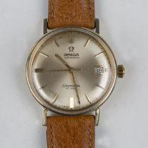 An Omega Automatic Seamaster de Ville gold circular cased gentleman's wristwatch, circa 1967, the