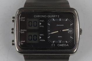 An Omega Seamaster Montreal 'Scoreboard' Chrono-Quartz stainless steel cased gentleman's bracelet