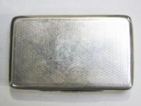 An early Victorian silver rectangular snuff box with engine turned decoration, London 1840 by
