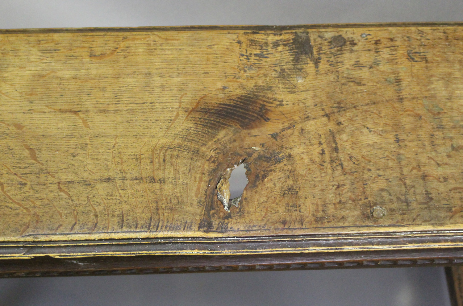 A pair of 19th century oak joint benches, on turned and block legs united by stretchers, height - Image 3 of 3