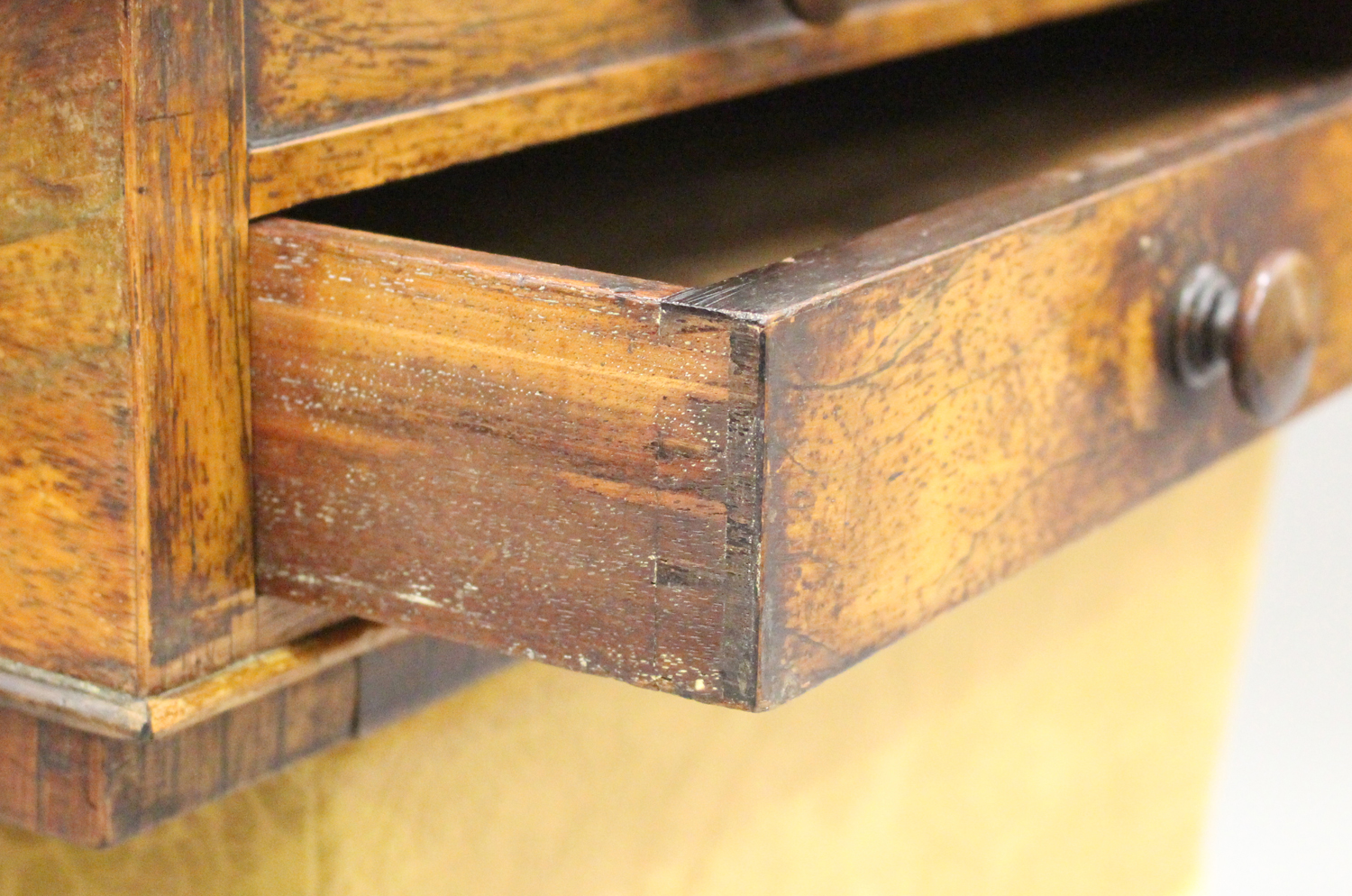 A Regency rosewood work table, the hinged lid above a drawer and basket, on scroll supports and - Image 4 of 5