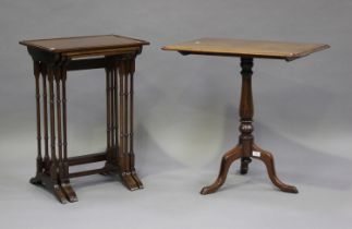 A Victorian mahogany rectangular wine table, height 70cm, width 68cm, depth 48cm, together with a