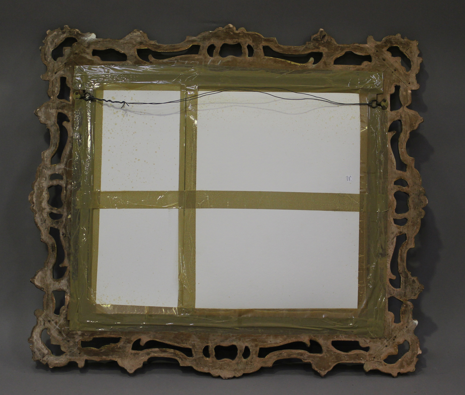 A mid/late Victorian carved gilt wood and gesso framed wall mirror, decorated with leaf and 'C' - Image 2 of 4