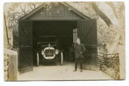 AUSTIN. A collection of 42 postcards and photographs of pre-1920 Austin motorcars, including two