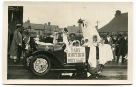 AUSTIN. A collection of 61 postcards and photographs of Austin 7 motorcars, including 3 of