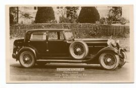 BENTLEY. A collection of 40 postcards and photographs of Bentley motorcars, including 3
