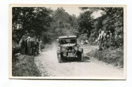 AUSTIN. A collection of 70 postcards and photographs of Austin motorcars circa 1920s and 1930s,