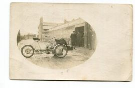 LAGONDA. A collection of 31 postcards and photographs of Lagonda motorcars, including one outside