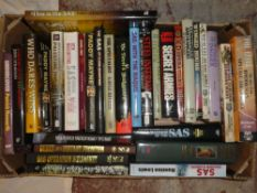 Various SAS and Special Forces volumes including The SAS at Close Quarters;