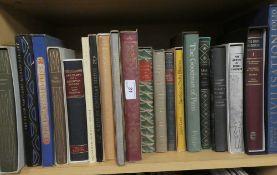 Twenty Folio Society volumes,