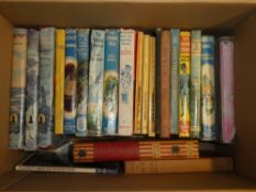 A selection of decorative Childrens volumes including William and the Brains Trust,