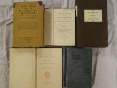 Various history volumes including Gardiner (AG) John Benn and the Progressive Movement first