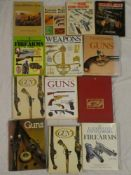 Various gun related volumes including Illustrated Directory of Guns, Antique Firearms,