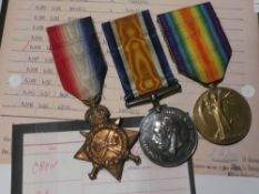 A 1914/15 star trio of medals awarded No.P1637 L/Cpl. G.R.