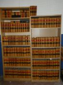 A selection of over 150 decorative leather bound volumes - mainly Law Reports 19th Century onwards
