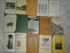 A selection of fishing volumes including Bromley (AN) A Fly Fishers Reflections 1860-1930 dust
