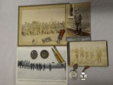 "A selection of Boer War memorabilia including bullet propelling pencil ""Cronje's Laager Paardeberg"