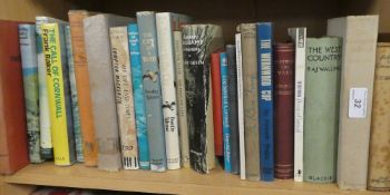 A selection of Cornish related volumes and Cornish authors including N Tangye and others,