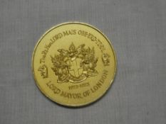A gilt 1972 Lord Mayor of London medal awarded to the Rt. Hon.