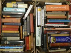 Ten boxes of miscellaneous books - novels, topographical,
