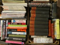 Eight boxes of miscellaneous volumes including novels,
