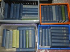 A large selection of bound volumes of National Geographic magazine
