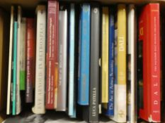 Various art and craft related volumes including Dali, Victorian Design Source Book,