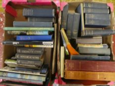 Four boxes of various books including Devon and Cornwall, Collecting Oriental Antiques,