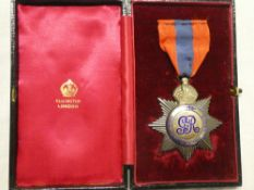 A George V star-type Imperial Service Medal, first issue awarded to John Timms,