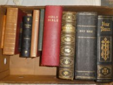 Various family bibles and general bibles including the Holy Bible pub.