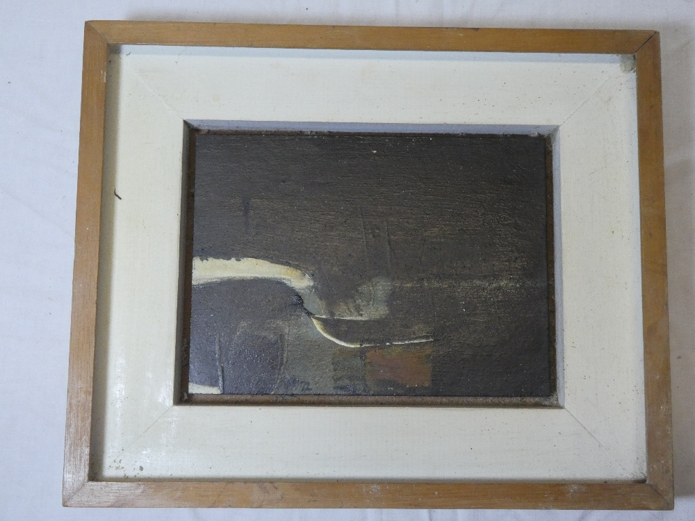"""Neil Murison - oil on board """"Night Landscape"""", signed with initials and dated '72,"""