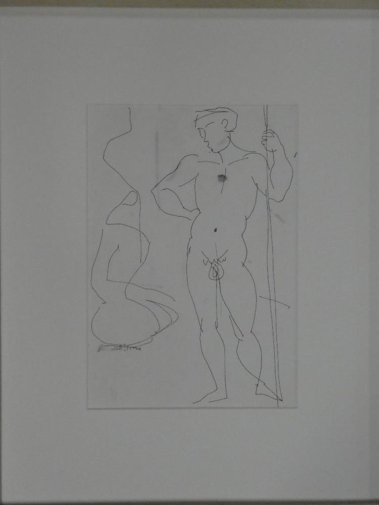 """Rose Hilton - ink drawing """"It Takes Two to Tango VI"""", signed,"""