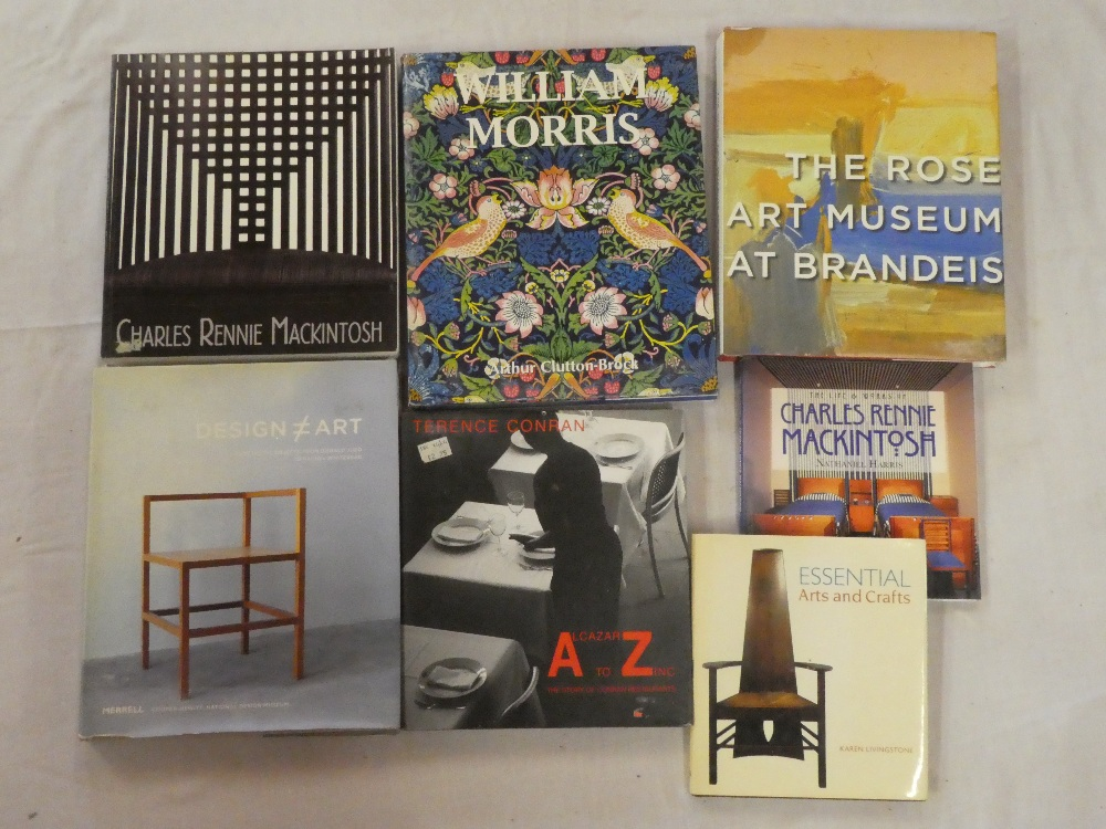 Seven design and art volumes including William Morris by A Clutton-Brock, 2007,