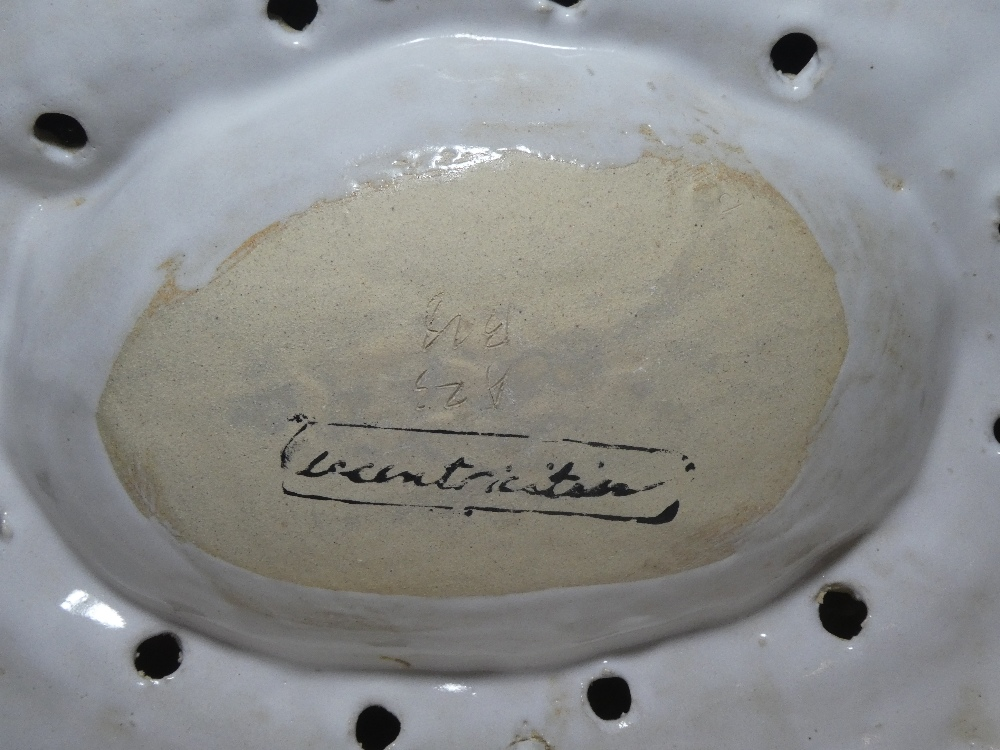 A modern glazed Studio pottery bowl, the rim decorated with twelve birds, - Image 2 of 2