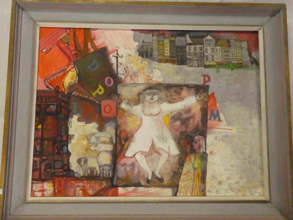 "Moreen Moss - oil on canvas ""Paris ."