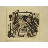 """Tony Giles - watercolour """"West Yard"""", signed and inscribed, dated 18/10/72."""