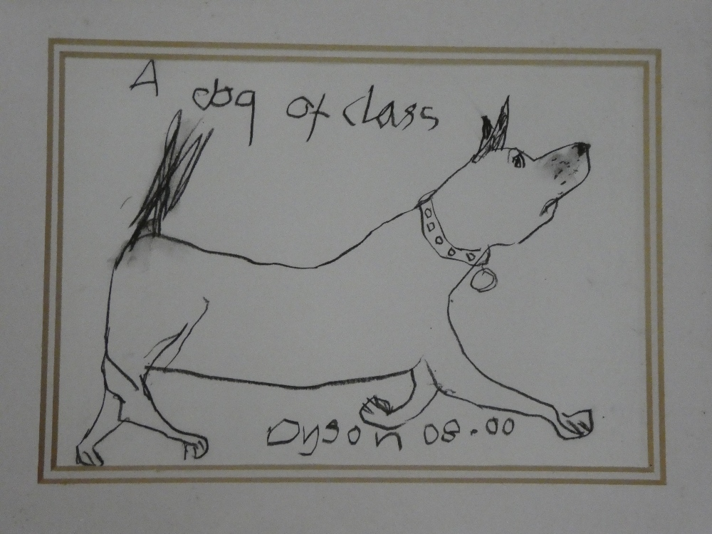 "Julian Dyson - pencil ""A Dog of Class"", signed, inscribed and dated 08."
