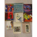 David Hockney - Nine various volumes including Hockney Paints the Stage,
