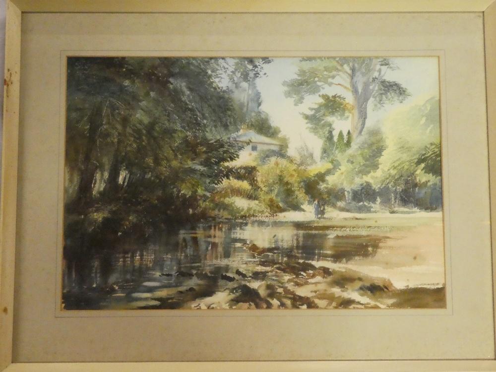 "Francis Philip Goodchild - watercolour ""Avonwick"","