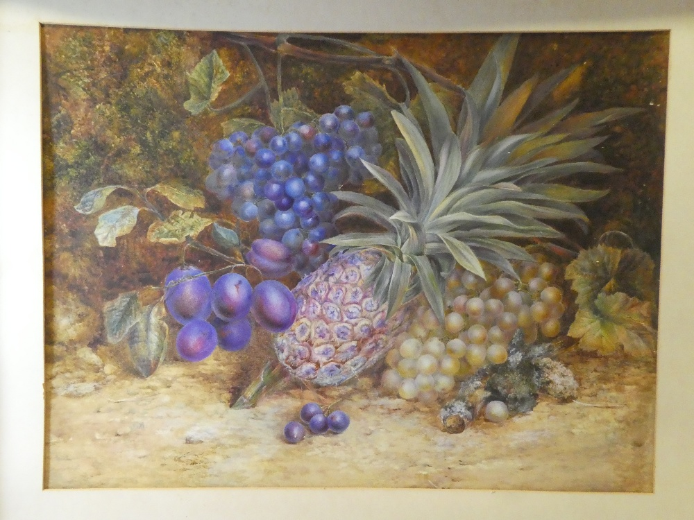 Artist Unknown - watercolour Study of fruit,