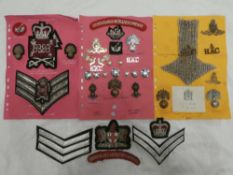 A collection of Honorable Artillery Company badges and insignia including pair of Officer's Mess