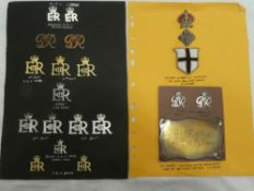 A military Knights of Windsor full dress epaulettes insignia and a selection of GVIR and EIIR ADC