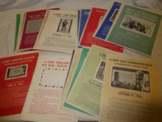 A selection of over 40 USA Post Office A4 size stamp bulletin notices 1962-1964