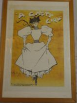 """A coloured limited edition theatrical print """"A Gaiety Girl"""" after D Hardy,"""