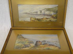 J**W**Raffles - watercolours Coastal scenes, signed and dated 1899,